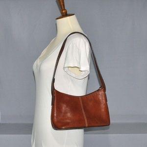 Fossil Leather Purse Brown Shoulder Bag